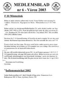 Medlemsblad nr 6 - År 2003